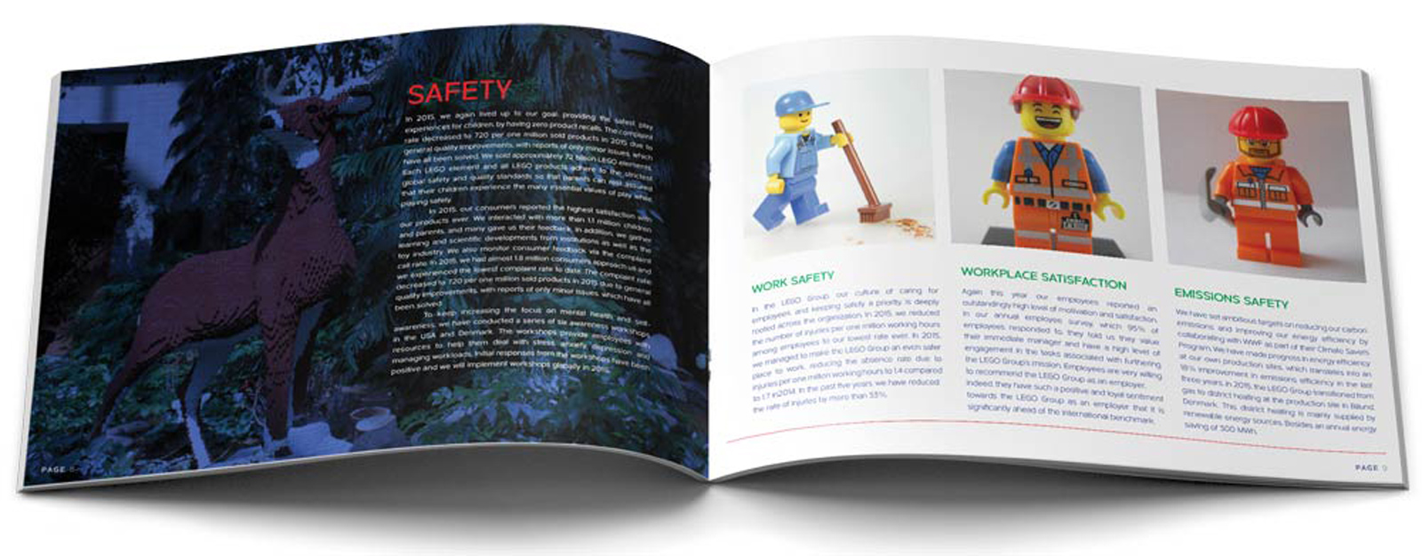 Lego Annual Report Safety Pages