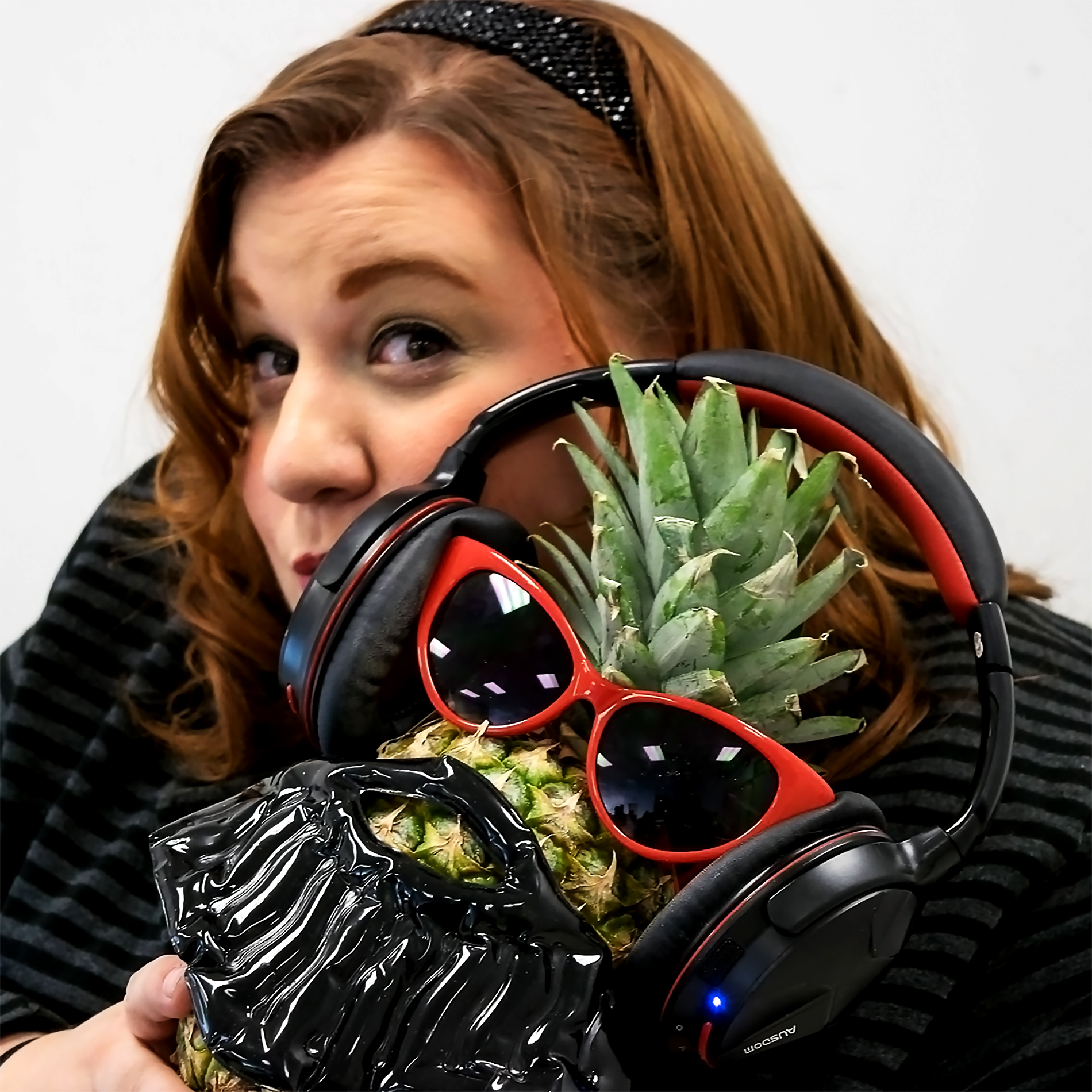 Sarah Gilmour of Sizzle Media with Frankstasia the awesome pineapple